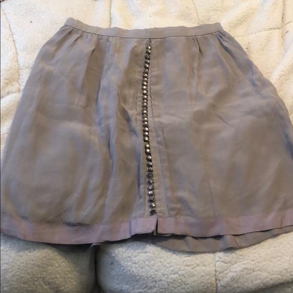 Anthropologie Dresses & Skirts - Anthropologie purple button silk skirt, Sz 10